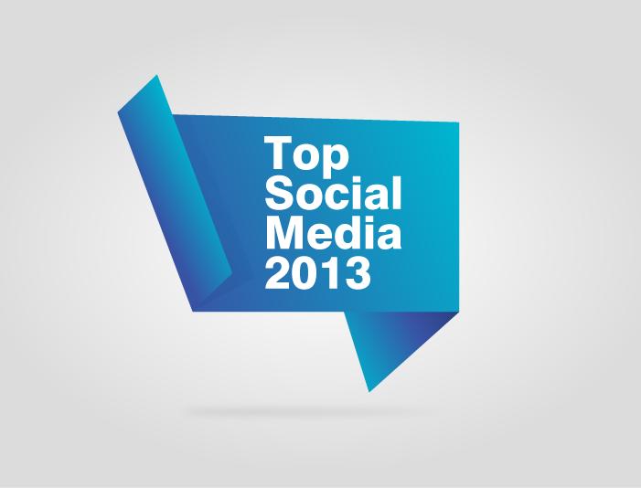 top social media 2013
